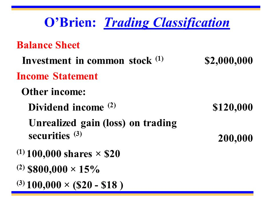 O'Brien: Trading Classification