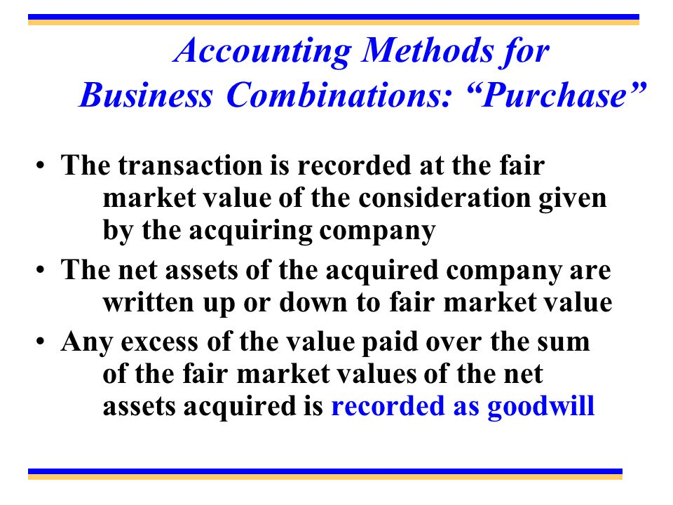 Accounting Methods for Business Combinations: Purchase