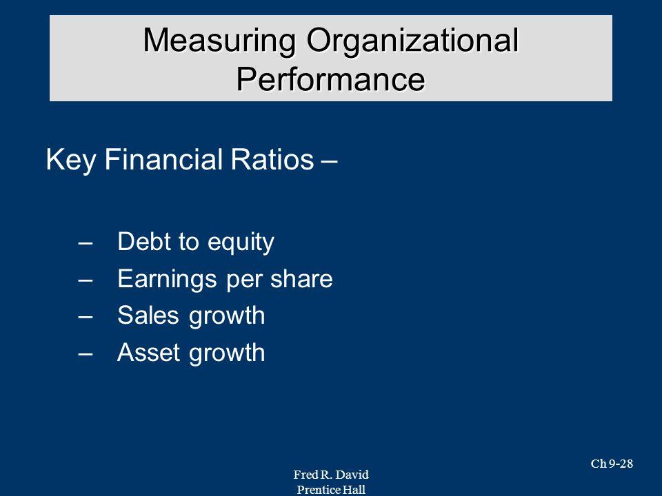 Measuring Organizational Performance