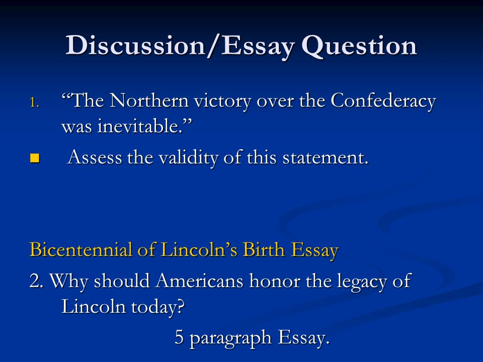 discussion essay questions