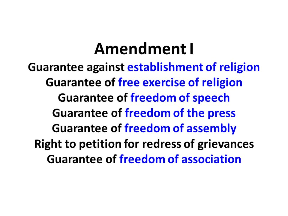 Guarantee of freedom of association