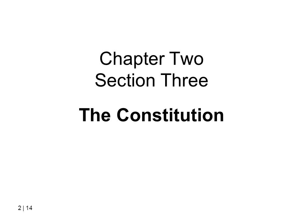 Chapter Two Section Three