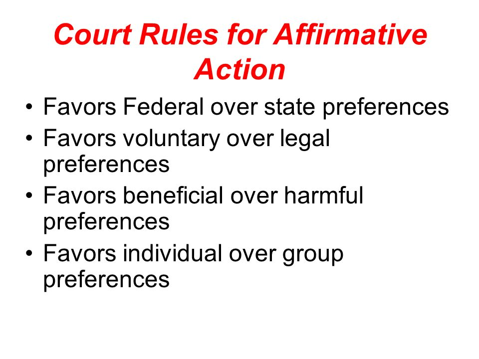 Court Rules for Affirmative Action
