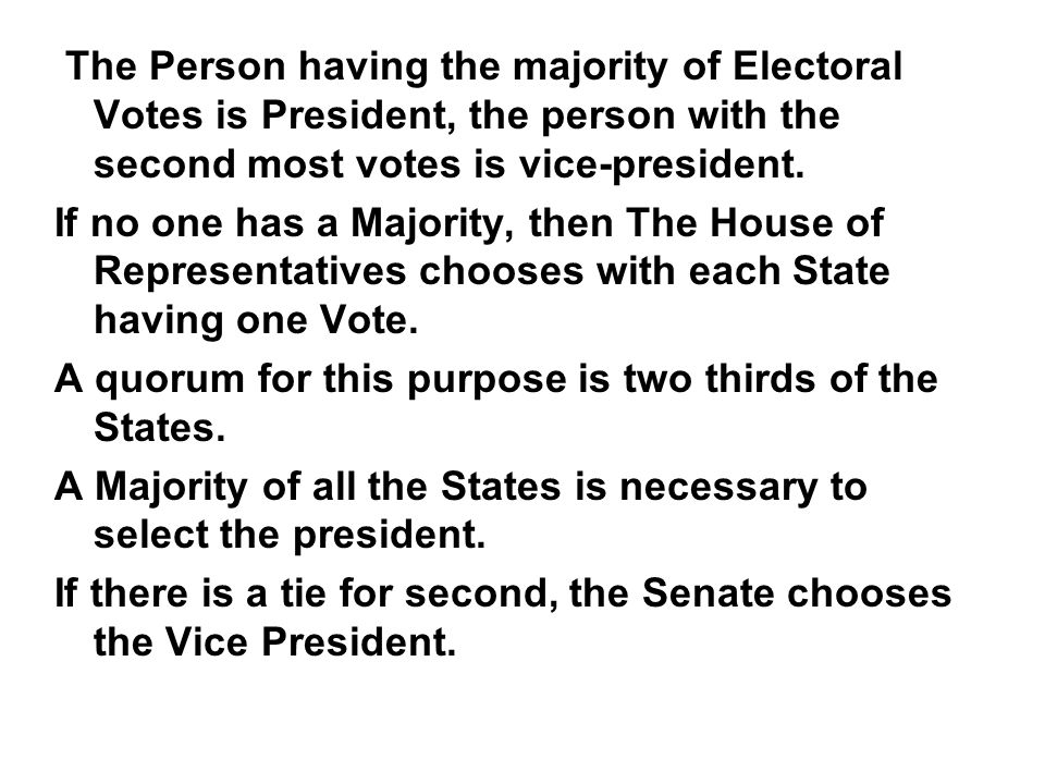 The Person having the majority of Electoral Votes is President, the person with the second most votes is vice-president.