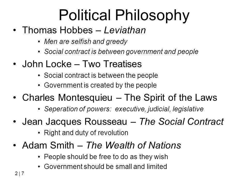 Political Philosophy Thomas Hobbes – Leviathan