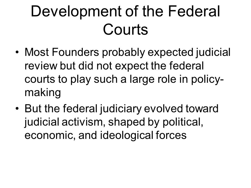 Development of the Federal Courts