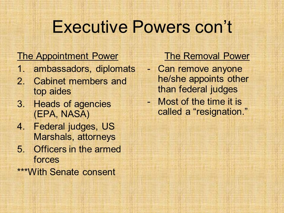 The Power of the President - ppt download