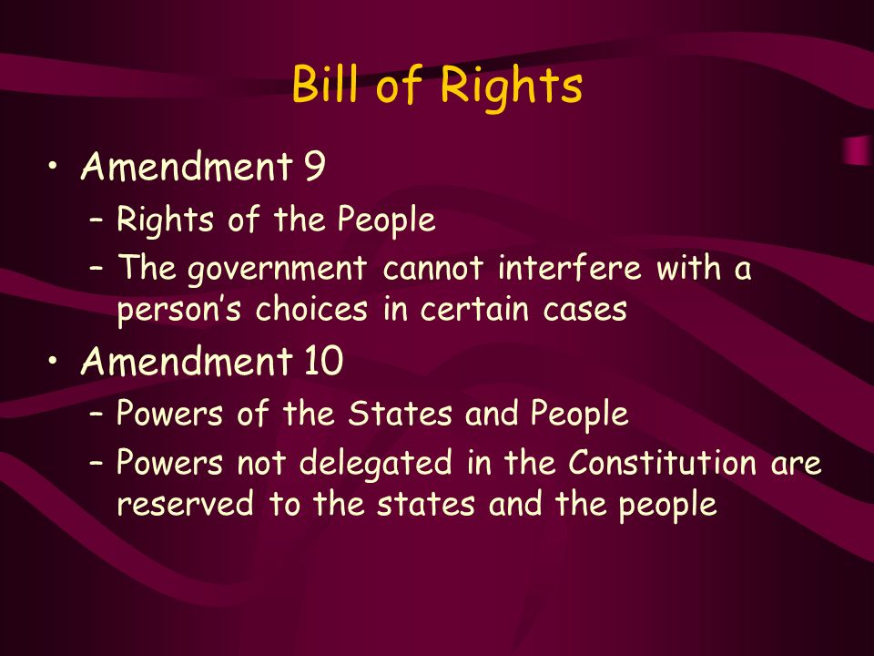 Rights Reserved To States Or People The Articles of Confed...