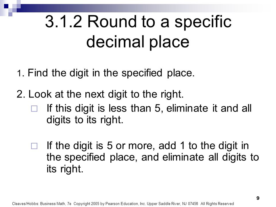 3.1.2 Round to a specific decimal place