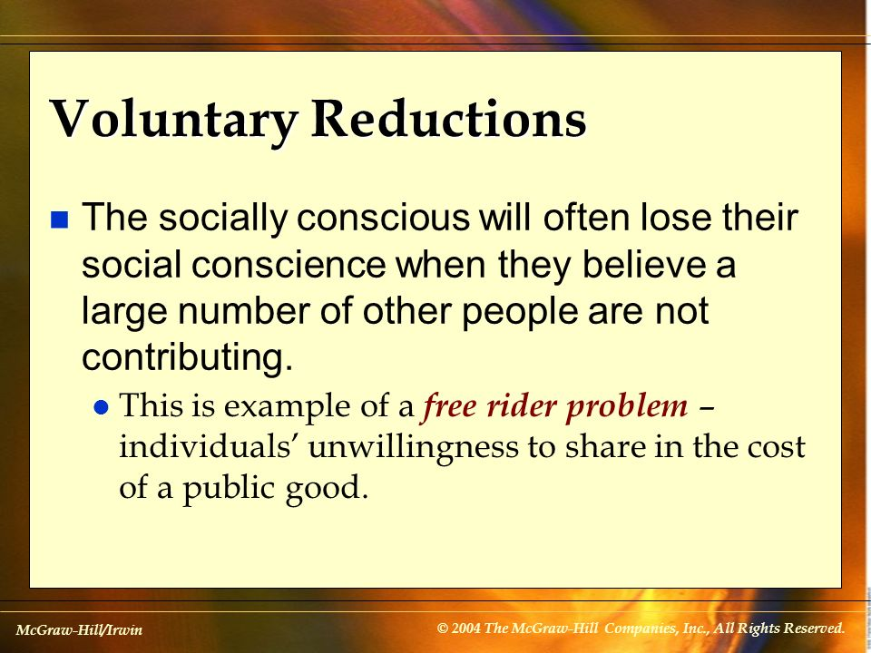 Voluntary Reductions