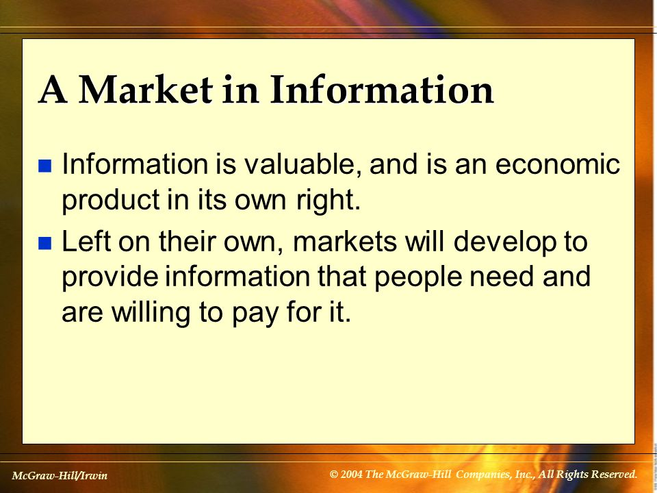 A Market in Information
