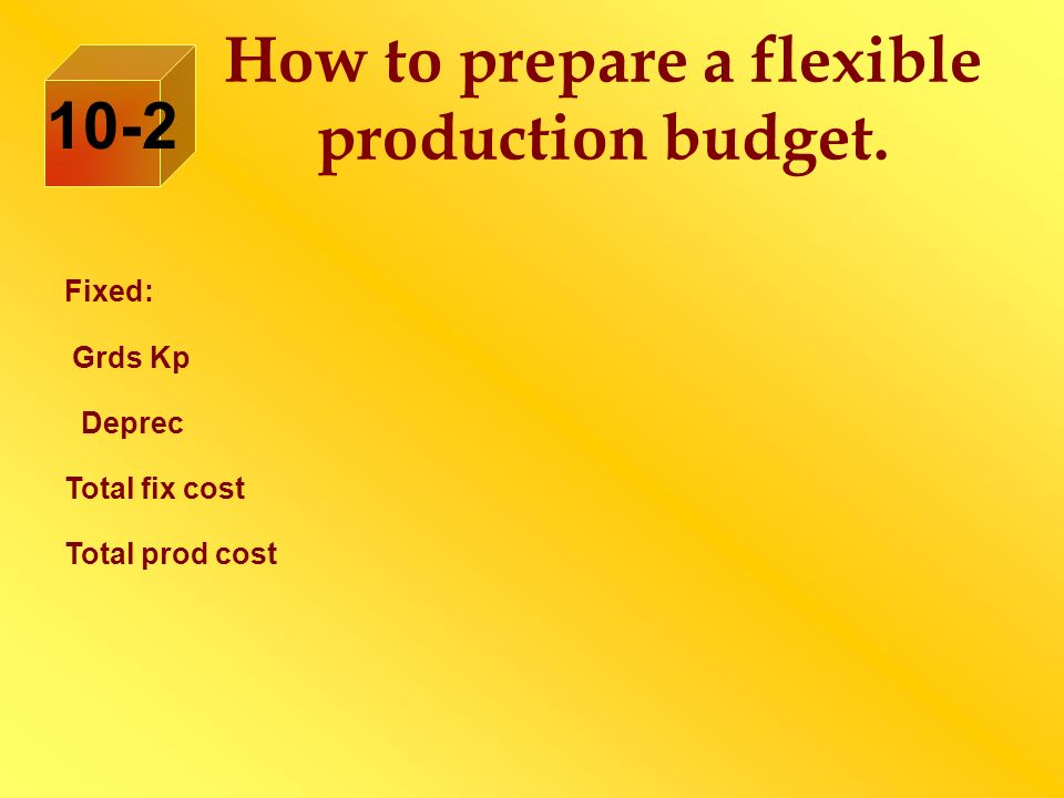 How to prepare a flexible production budget.