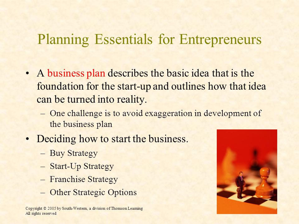 Planning Essentials for Entrepreneurs