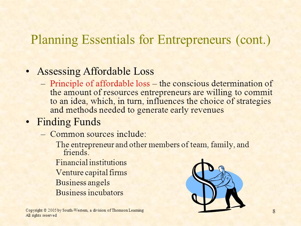 Planning Essentials for Entrepreneurs (cont.)