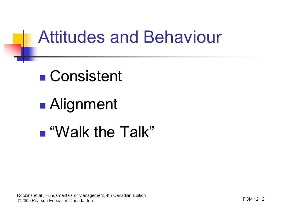 Attitudes and Behaviour