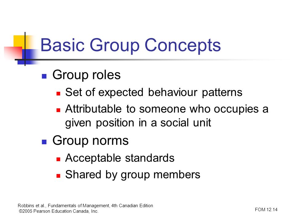 Basic Group Concepts Group roles Group norms