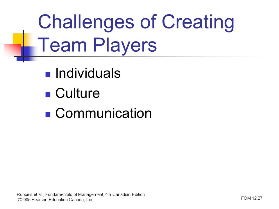 Challenges of Creating Team Players