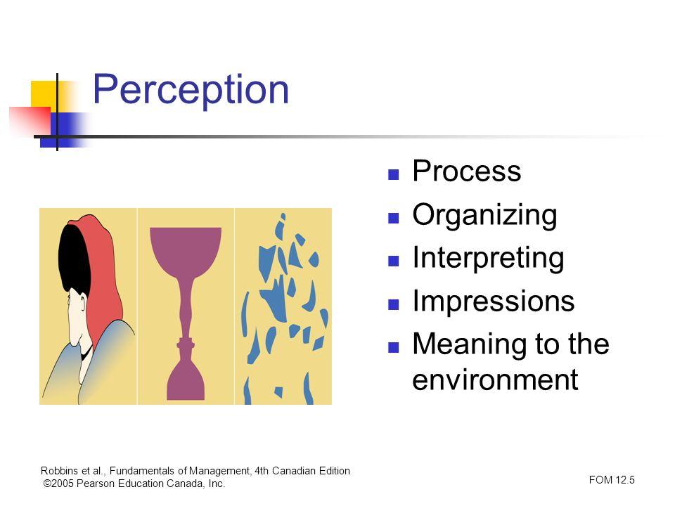 Perception Process Organizing Interpreting Impressions