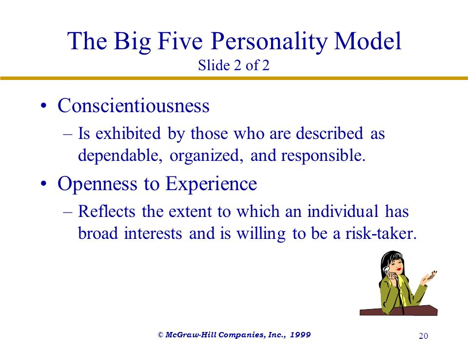 The Big Five Personality Model Slide 2 of 2