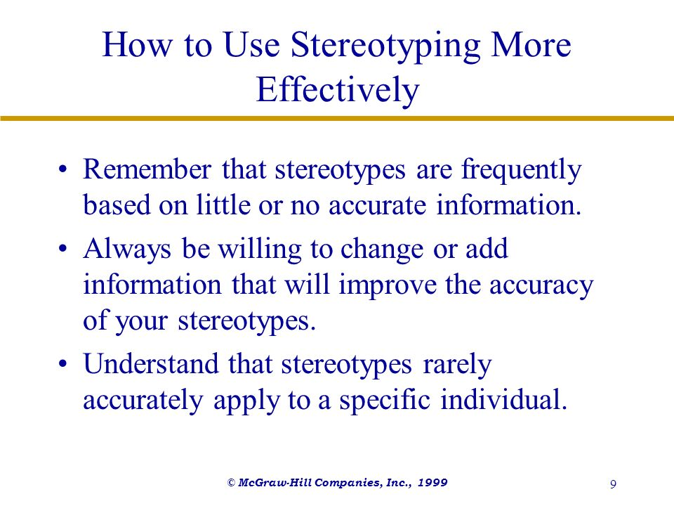 How to Use Stereotyping More Effectively