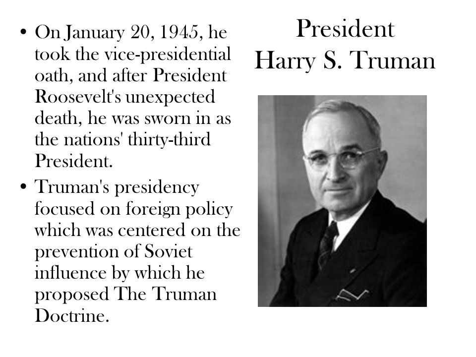the history of the leadership of harry s truman the thirty third president of united states Harry truman was the thirty-third president of the united states  personal faith  largely private while in office, however, even alienating some baptist leaders.