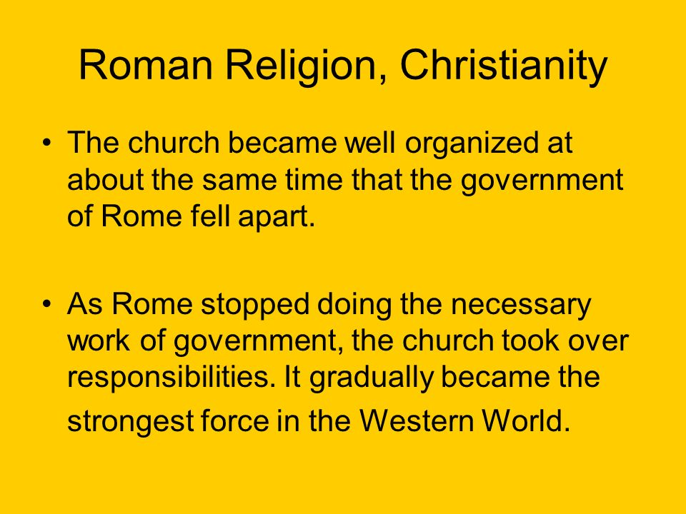 Rome Chapter Ppt Download - Strongest religion in the world
