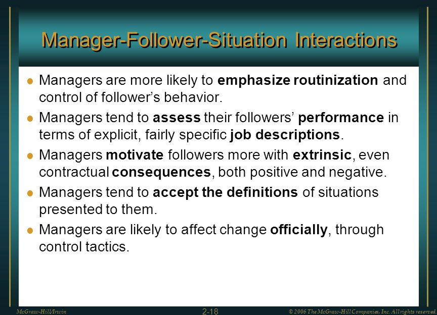 Manager-Follower-Situation Interactions
