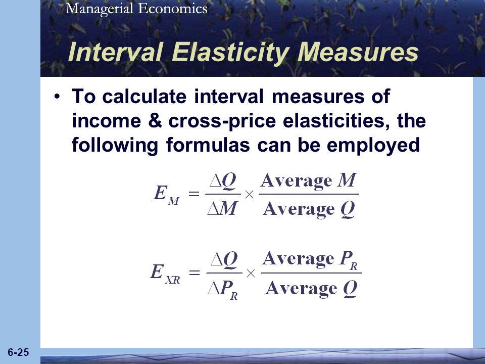 Interval Elasticity Measures