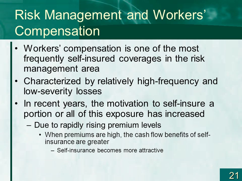 Risk Management and Workers' Compensation