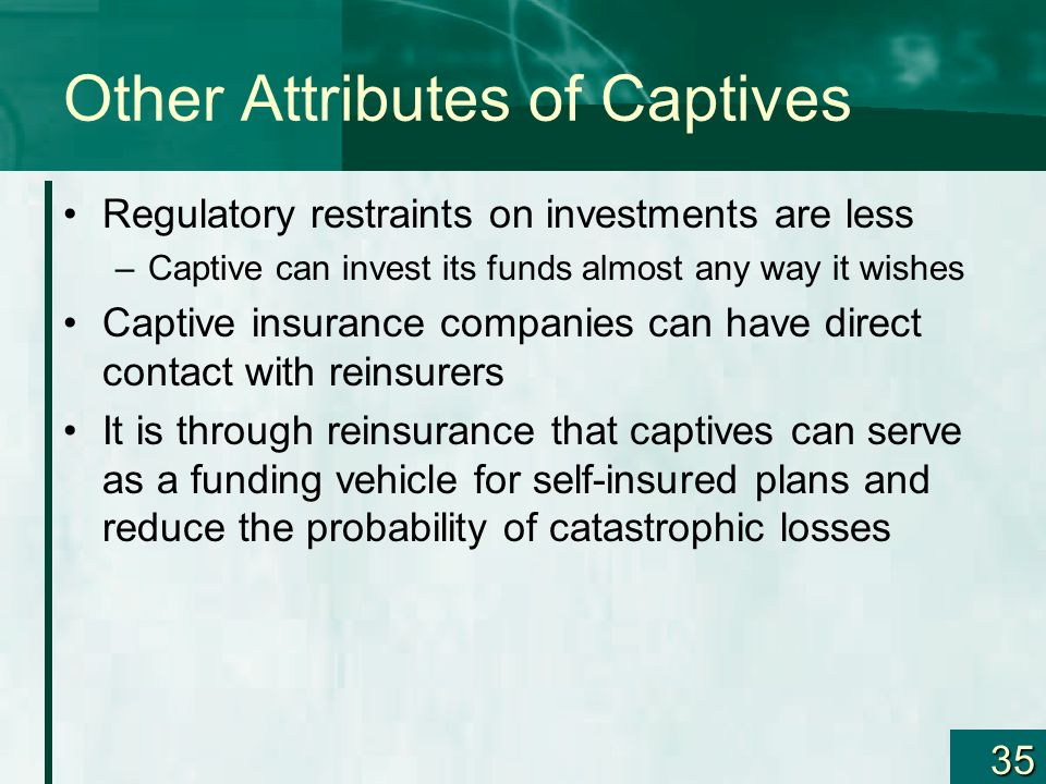 Other Attributes of Captives