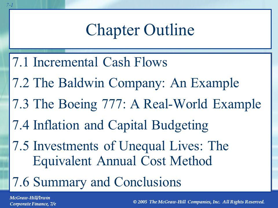 Chapter Outline 7.1 Incremental Cash Flows