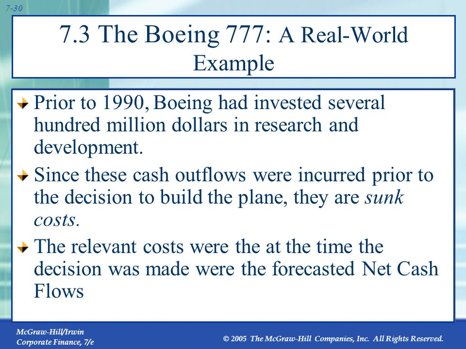 7.3 The Boeing 777: A Real-World Example