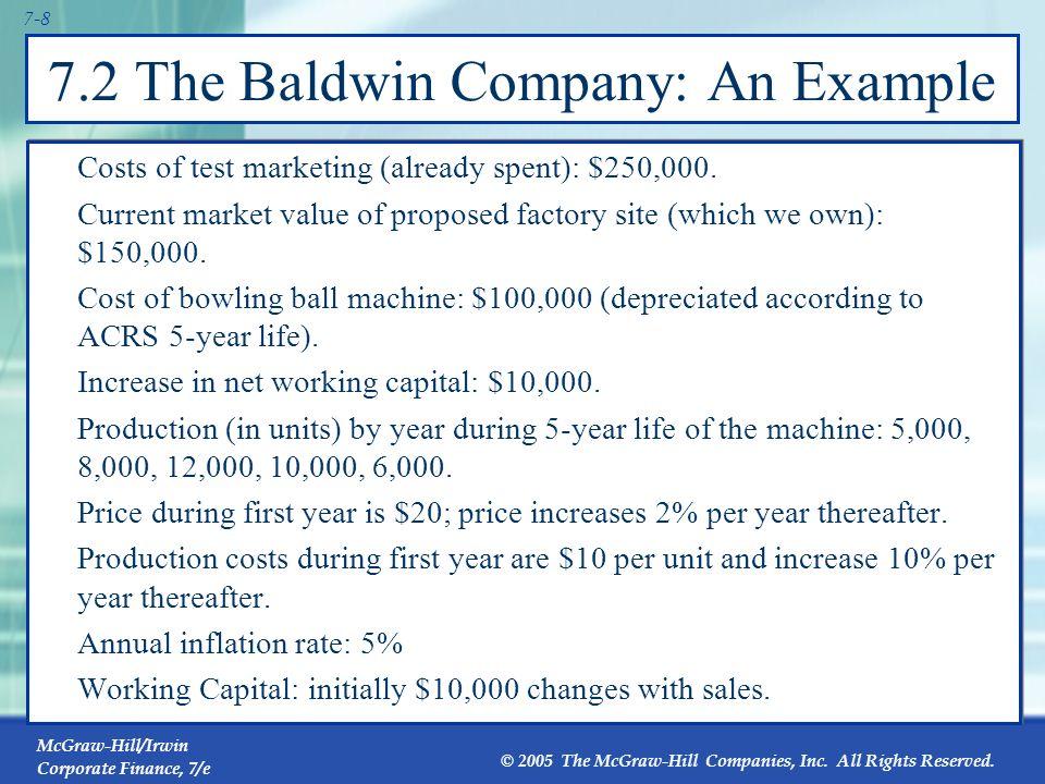 7.2 The Baldwin Company: An Example