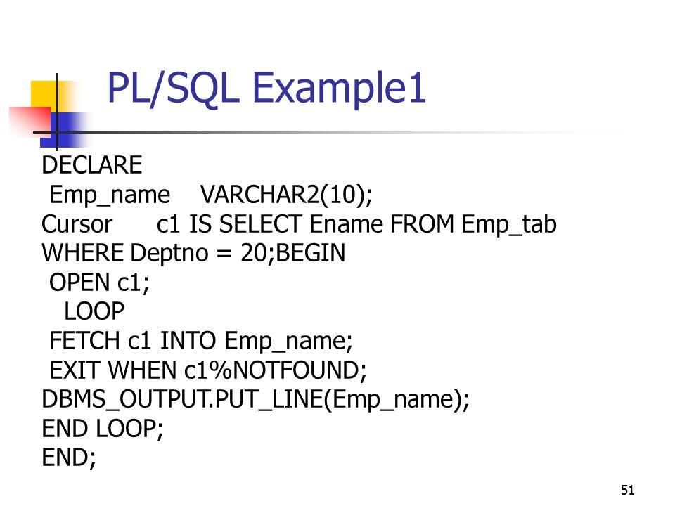 Oracle sql for cursor loop