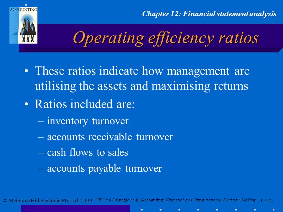Operating efficiency ratios