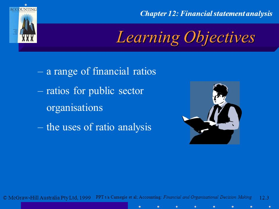 Learning Objectives a range of financial ratios