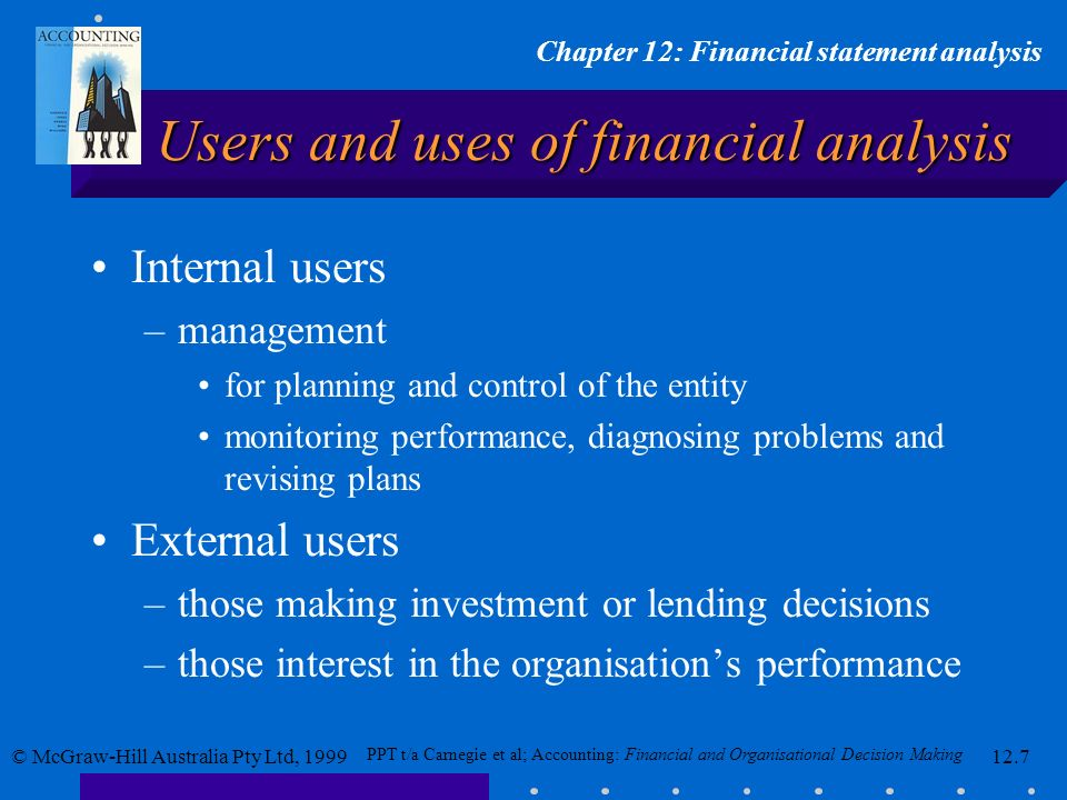 Users and uses of financial analysis