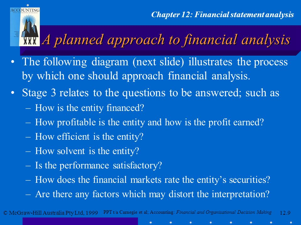 A planned approach to financial analysis