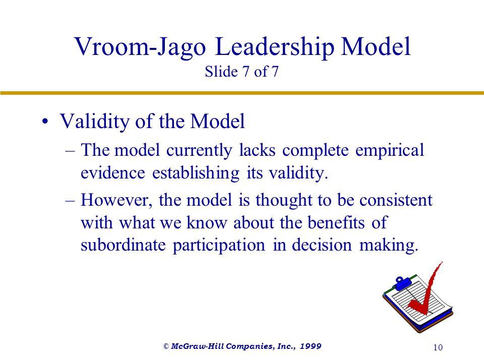 Vroom-Jago Leadership Model Slide 7 of 7