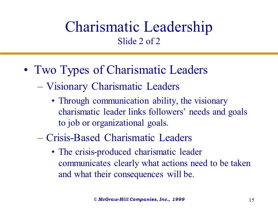 Charismatic Leadership Slide 2 of 2