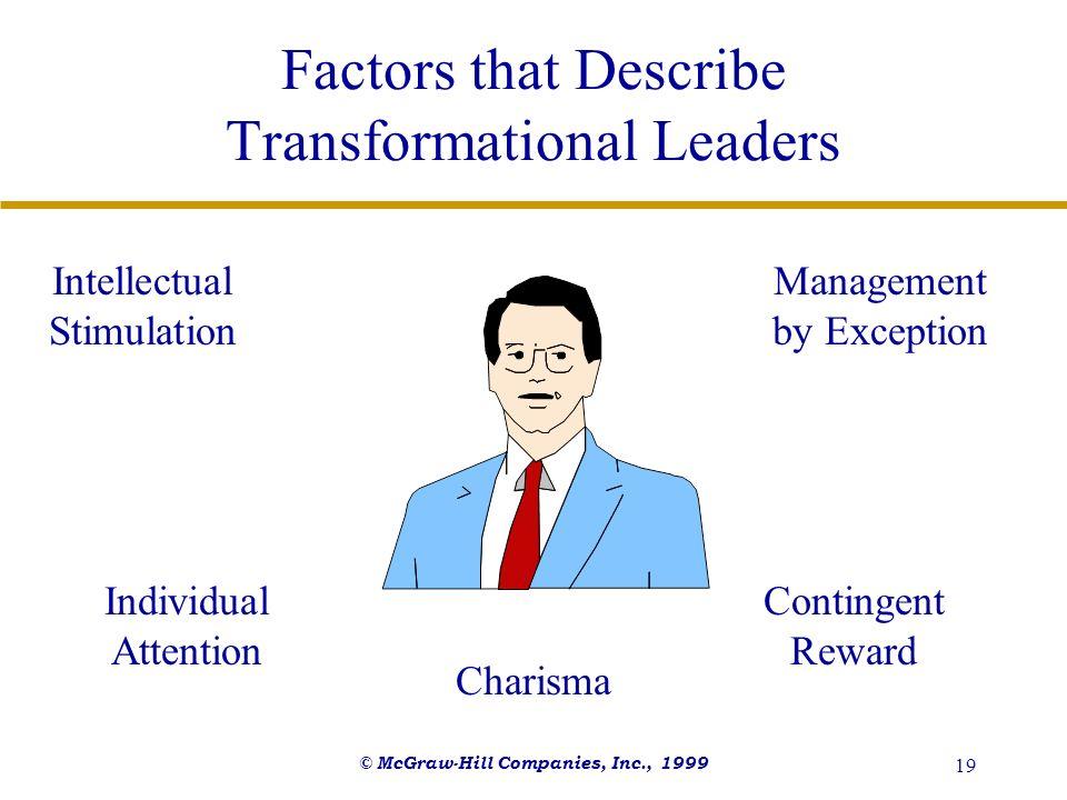 Factors that Describe Transformational Leaders