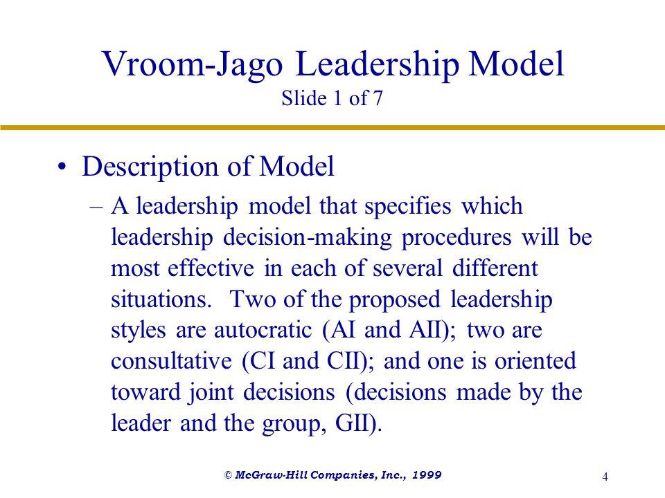 Vroom-Jago Leadership Model Slide 1 of 7