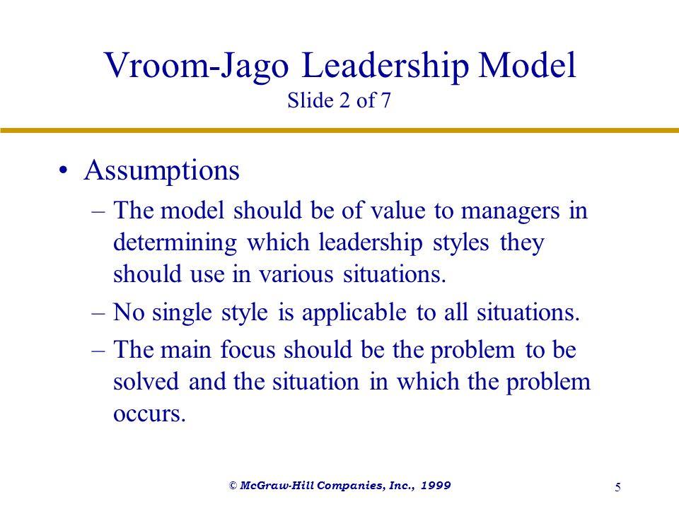 Vroom-Jago Leadership Model Slide 2 of 7