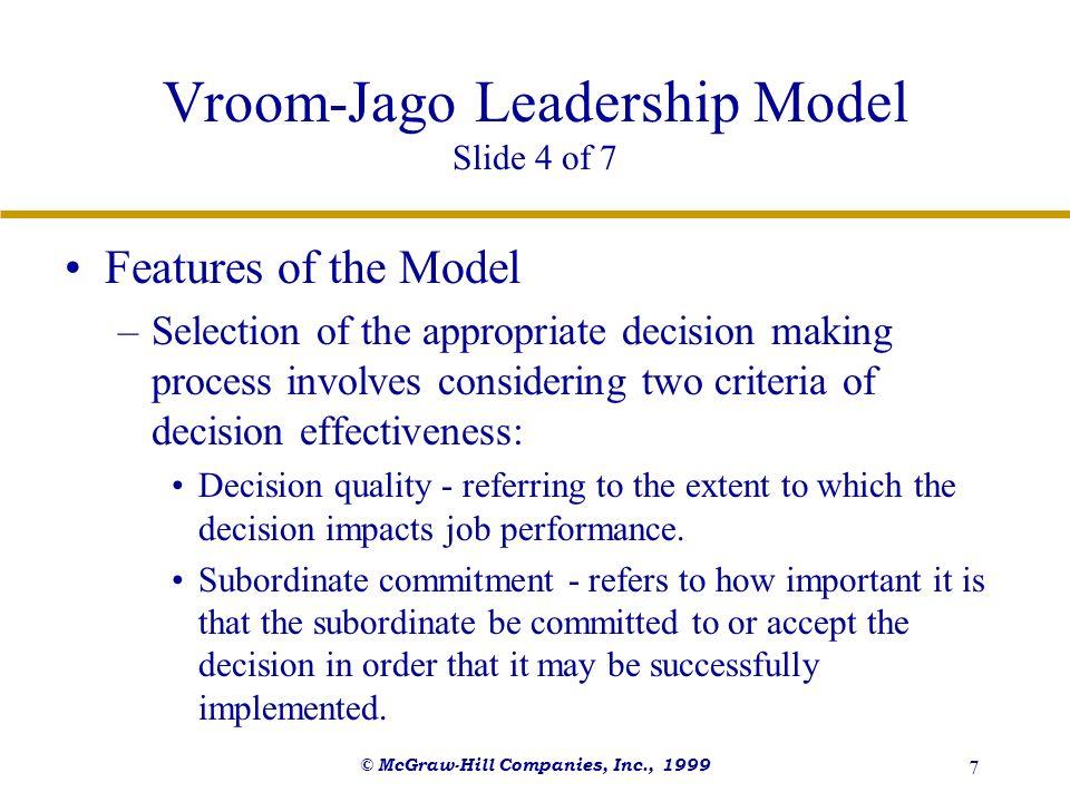 Vroom-Jago Leadership Model Slide 4 of 7