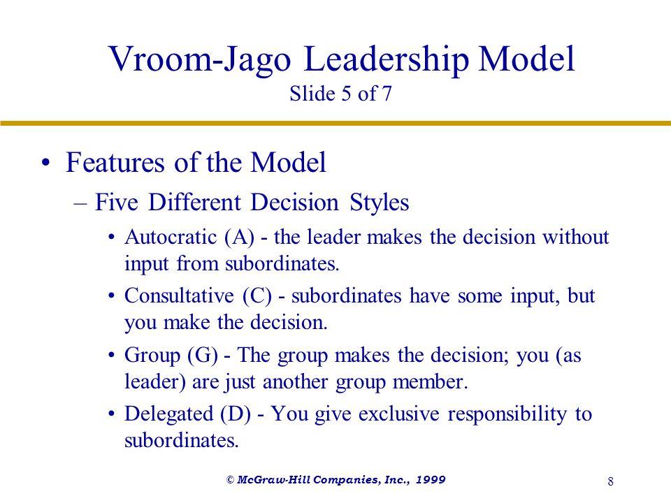 Vroom-Jago Leadership Model Slide 5 of 7