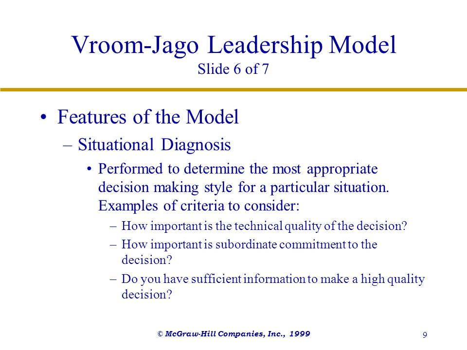 Vroom-Jago Leadership Model Slide 6 of 7