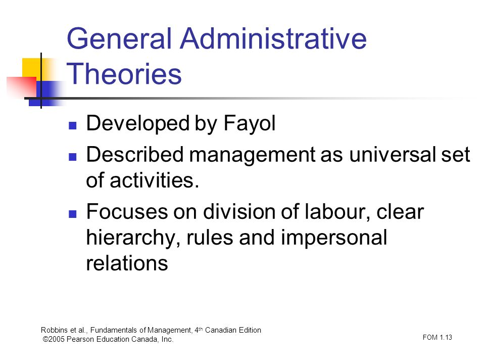 General Administrative Theories