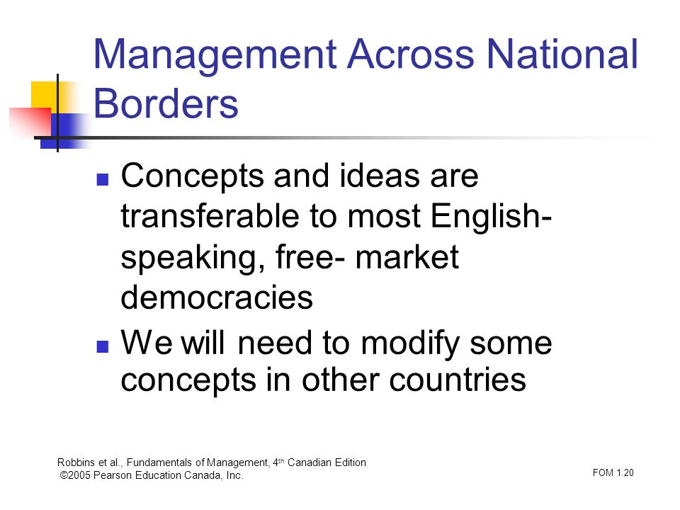 Management Across National Borders