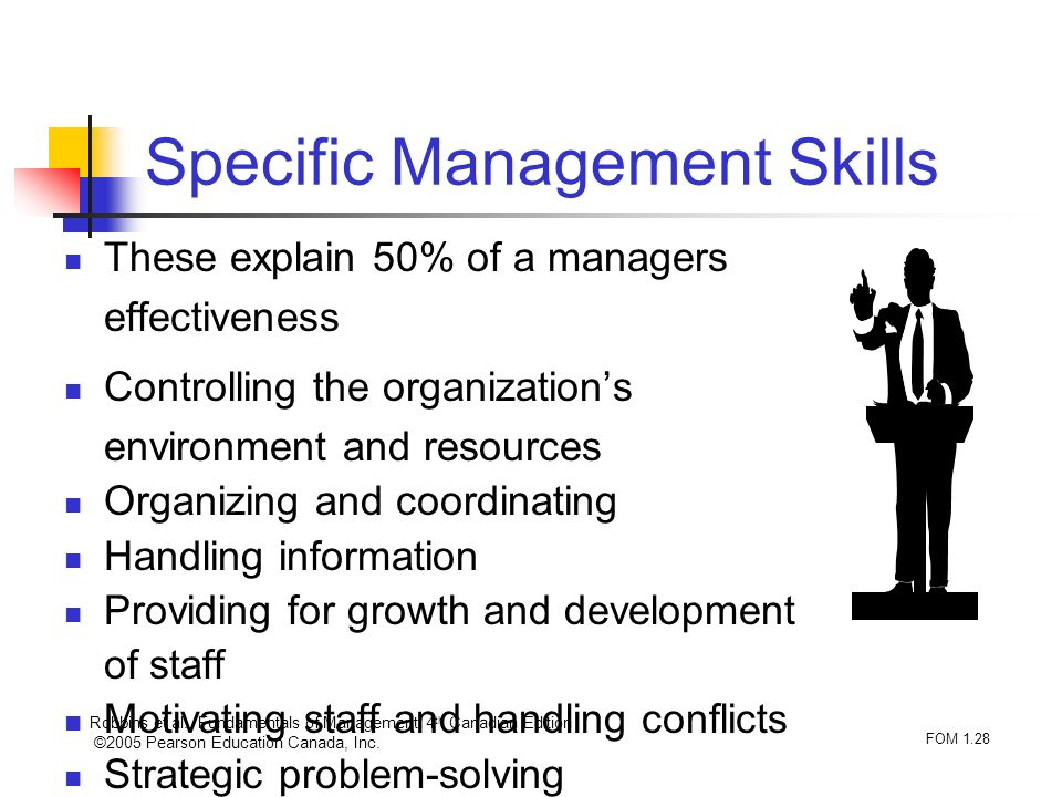 Specific Management Skills