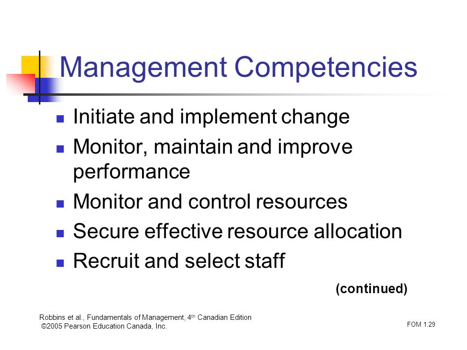 Management Competencies